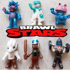 Колекційні іграшки -фігуркі Бравл Старс (6 шт): Сенді Сліпі, Тара Ірис, Карл Леонард, Ворон Вайт та ін.