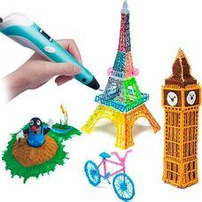 3Д ручка (3D) з екраном для моделювання + пластик і зарядка
