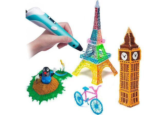 3Д ручка (3D) c экраном для моделирования + пластик и зарядка