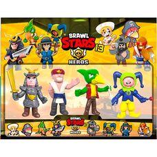 Brawl Stars (13 сезон) - 4 игрушки фигурки в наборе,  герои игры Бравл Старс: Леон, Ворон, Ниндзя, Якудза.