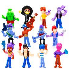 Набір ігрових фігурок Бравл Старс (Кактус Спайк, Булл, Тара і ін.)