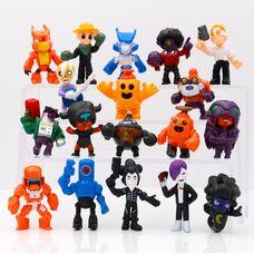 Набір фігурок Бравл Старс (18 шт) герої Brawl Stars (Кольт, Джин, Робомайк і ін.)