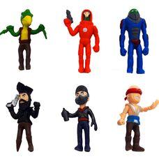 Великі фігурки (10 см) Brawl Stars (13 сезон) - 6 іграшок в наборі, герої гри Бравл Старс: Ворон, Пірат, Марсіанин і інші.