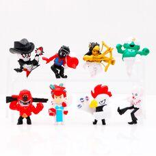 Набор фигурок Бравл Старс 2 сезон (8 шт) новые персонажи Brawl Stars (Клоун Мортис,Пэм-ветеринар,Механический Булл и др)
