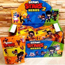 Іграшки Brawl Stars 2 (1 фігурка + 2карточка), супергерої гри Бравл Старс.