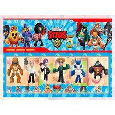 Brawl Stars (5 сезон) - Бо Меха, Кольт Рок-Зірка, Тара, Ворон-меха, Тік, Фем - 6 фігурок в наборі, герої гри Бравл Старс.