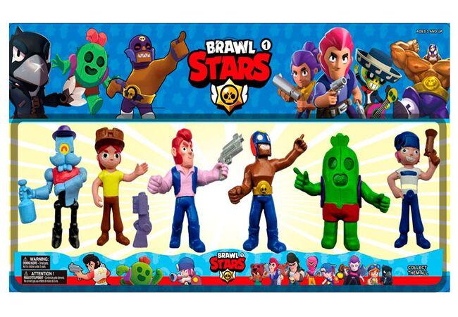 Brawl Stars большие фигурки (5 сезон) -Барли, Джесси, Кольт, Эль Примо, Кактус Спайк, Пенни.