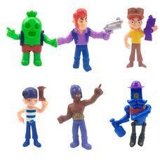 Brawl Stars великі фігурки (5 сезон) -Барлі, Джессі, Кольт, Ель Прімо, Кактус Спайк, Пенні.