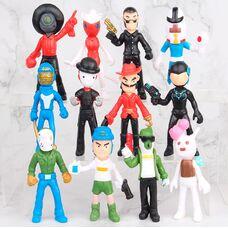 Набір героїв Бравл Старс (12 шт), висота 11см: Барлі, Булл, Рикошет, Бо та ін.