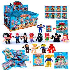 Іграшки Brawl Stars (1 фігурка + 1карточка), герої гри Бравл Старс.