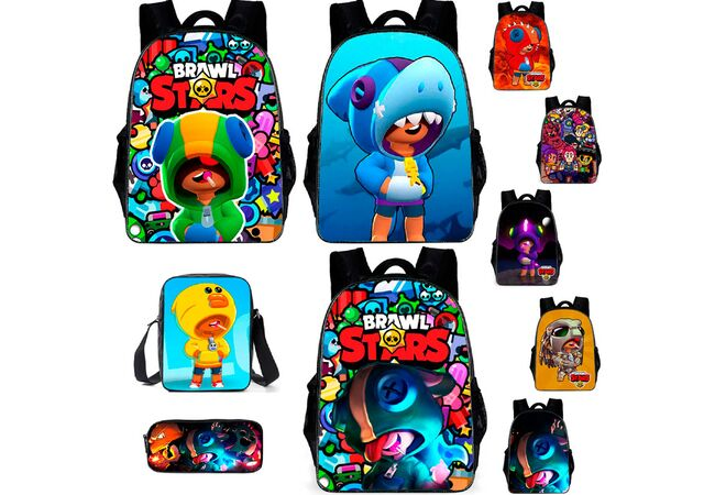 Школьный рюкзак Бравл Старс (Brawl Stars), сумка, пенал.