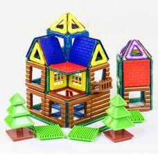 Цветной магнитный конструктор «Школьный двор», 66 деталей