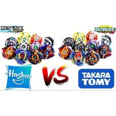 Бейблейды бренда Takara Tomy против Hasbro - какой бренд выбрать?