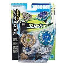 Бейблейд Турбо - Энгард Е4 (Орб Егис) + Кветсико Hasbro оригінал Beyblade Burst Turbo Slingshock Dual Pack Engaard E4 and Stone-X Quetziko Q4