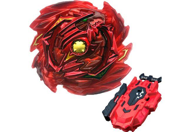 Бейблейд правосторонний Диаболос Красный с двусторонним запуском