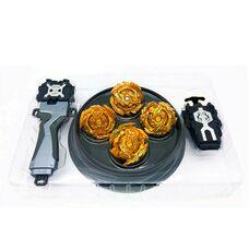 Меганабор золотых бейблейдов 4 в 1 + арена + антиберст чип