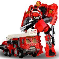 Робот трансформер Хэтвейв спасательный пожарный автомоиль со звуком