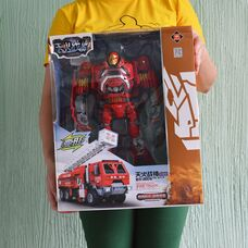 Робот трансформер Хэтвейв спасательный пожарный автомобиль со звуком