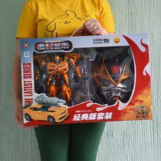 Робот трансформер Бамблби + детская маска