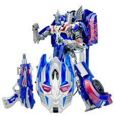 Робот трансформер Оптимус Прайм с маской и бластером
